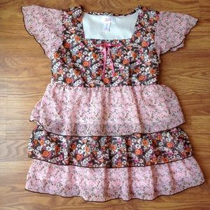 Girl's Justice size 14/large floral blouse